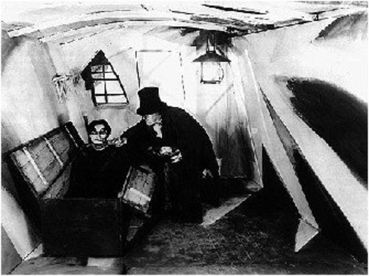 A scene from Das Kabinet des Doktor Caligari (1920)