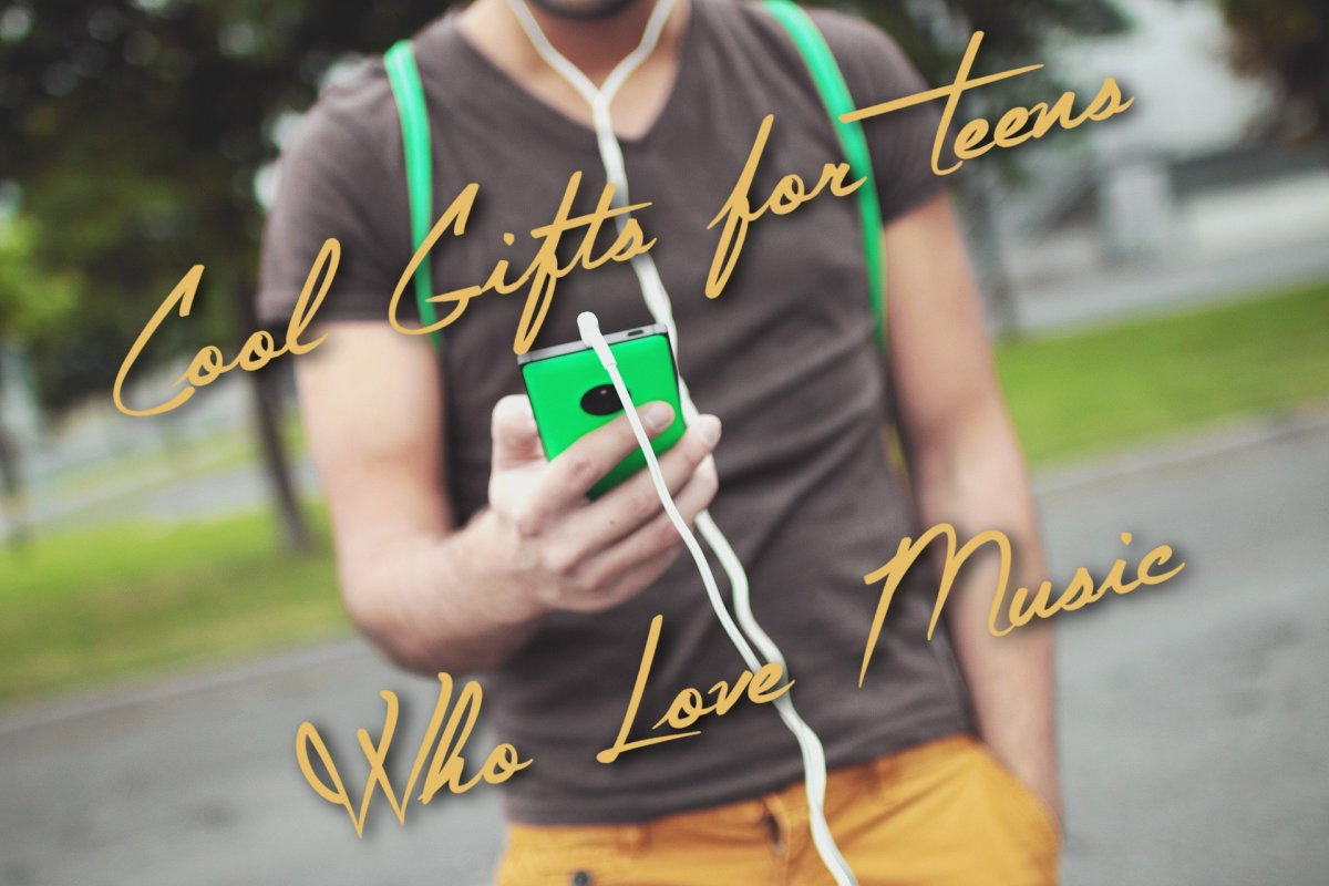 Trendy birthday and Christmas gifts for teens who love music.