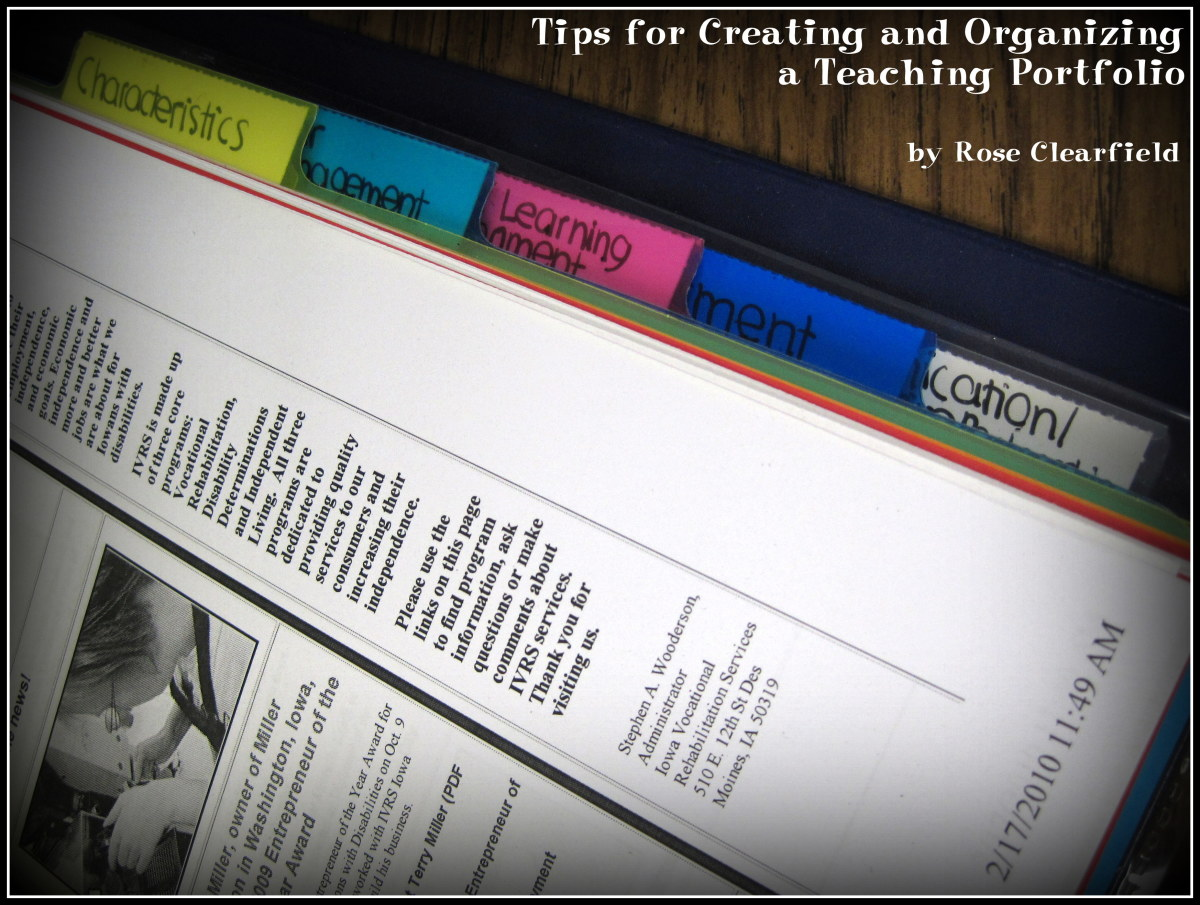tips and guidelines for creating and organizing a strong  effective teaching portfolio