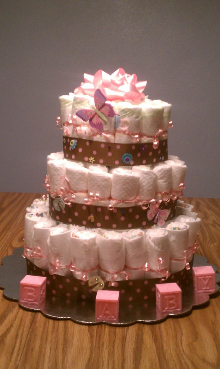 How to Make a Diaper Cake for a Fraction of the Cost