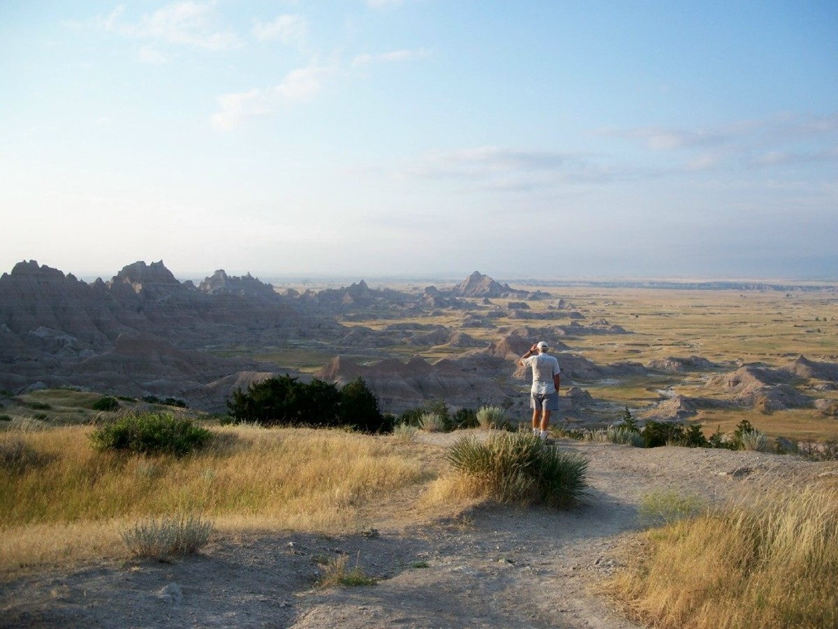 View of Badlands National Park, South Dakota