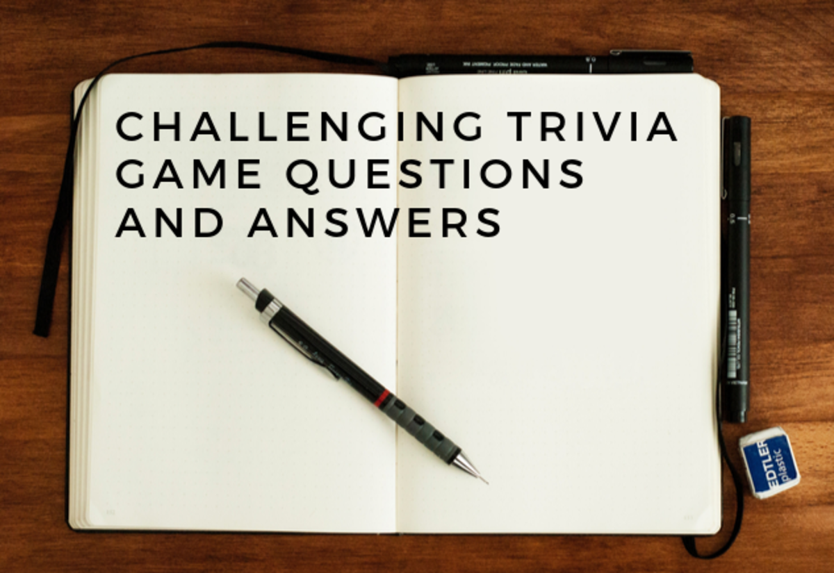 Fun, Interesting, and Challenging Trivia Game Questions and Answers (Full Game)