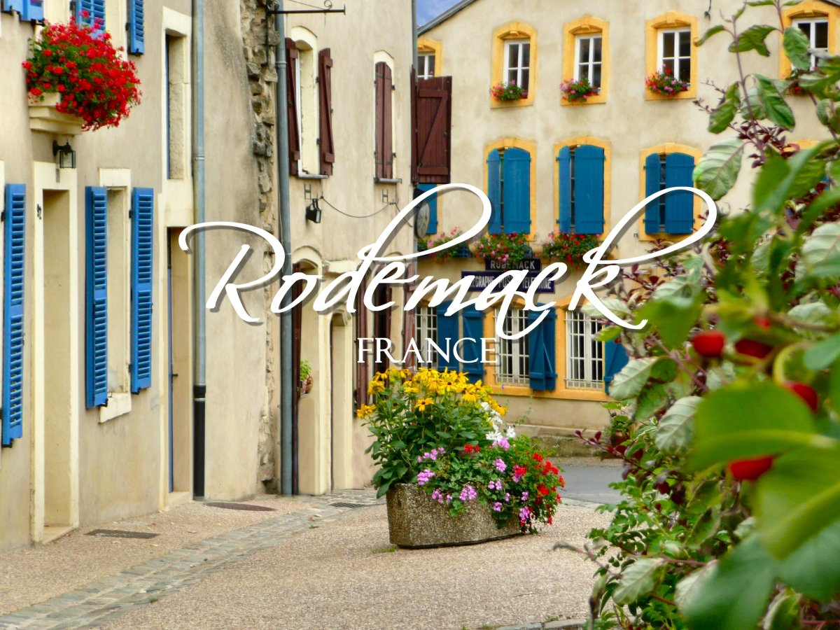 The medieval village of Rodemack, France