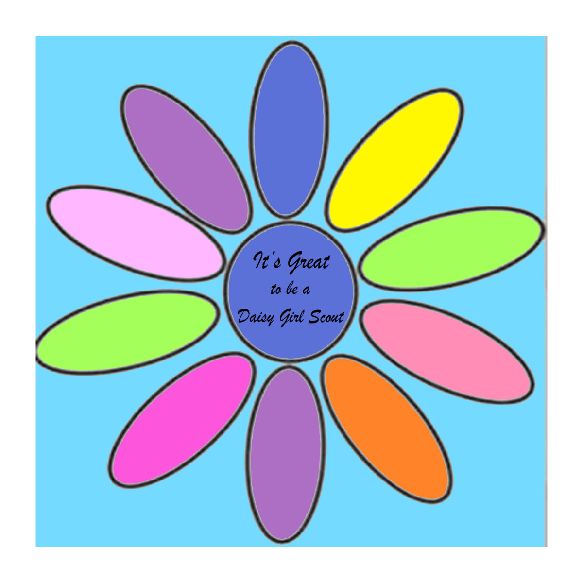 Daisy Girl Scout petals.