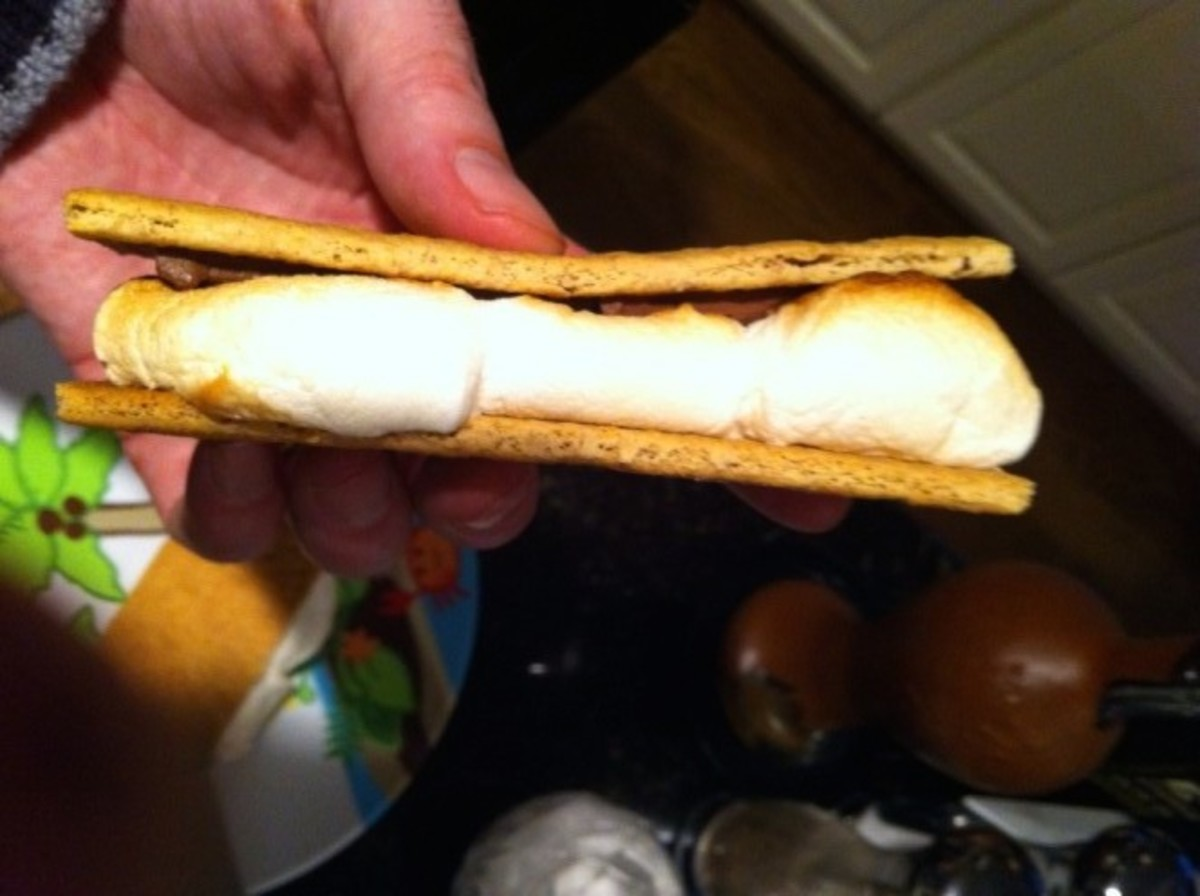 A smore made in the oven