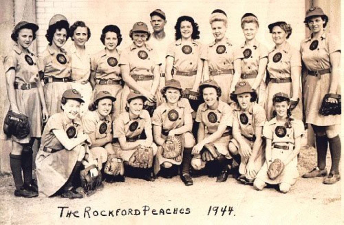 The Rockford Peaches Baseball Team.