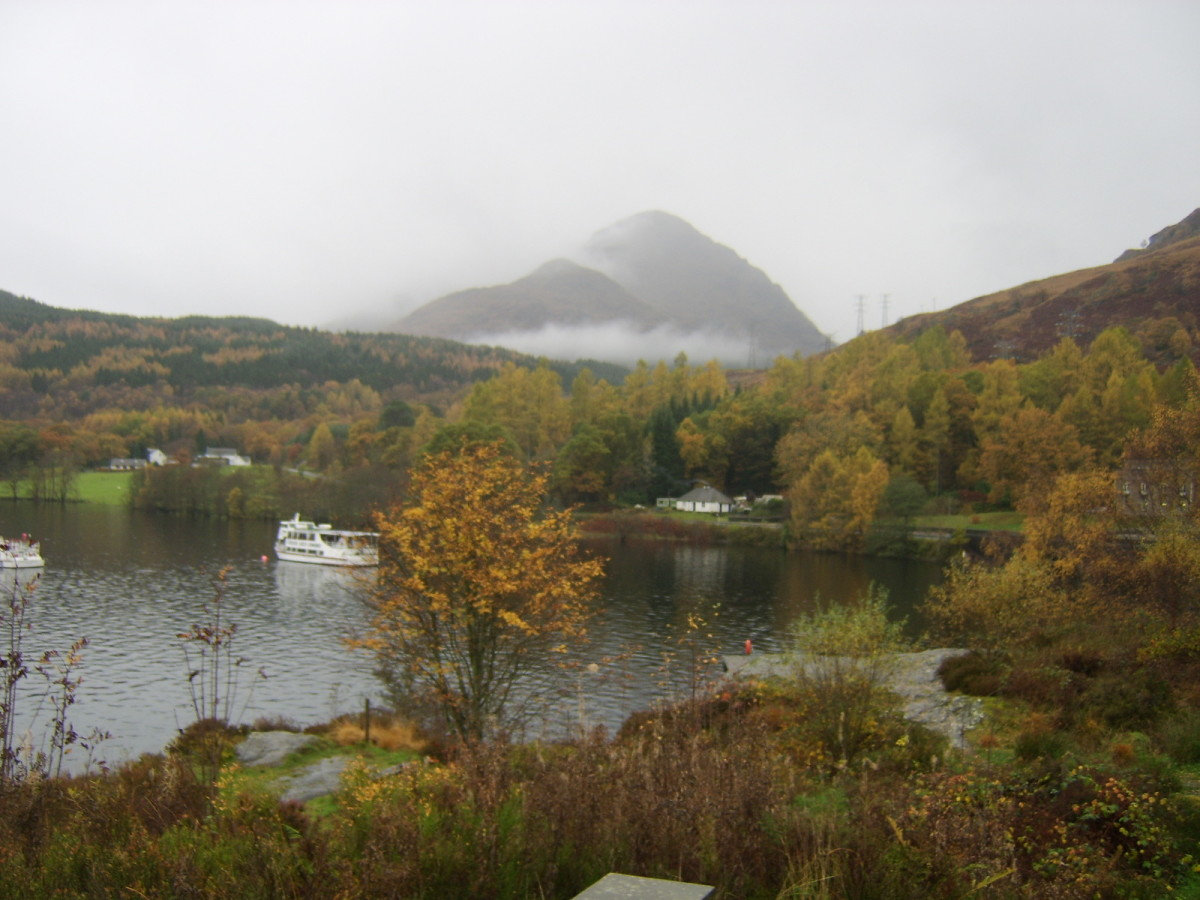 Autumnal View of the Banks of Loch Lomond (November 2010)