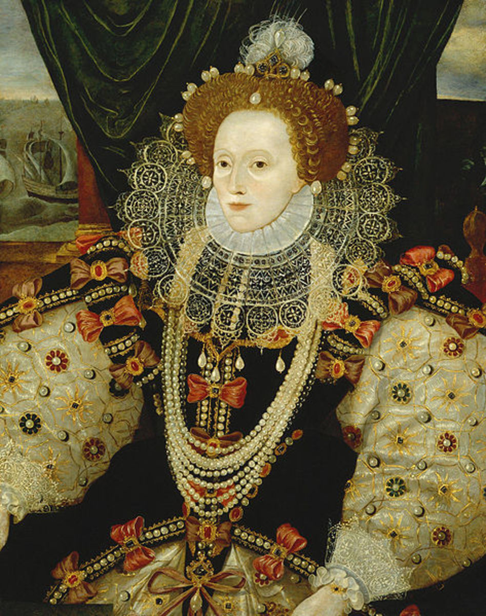 A portrait of Queen Elizabeth 1