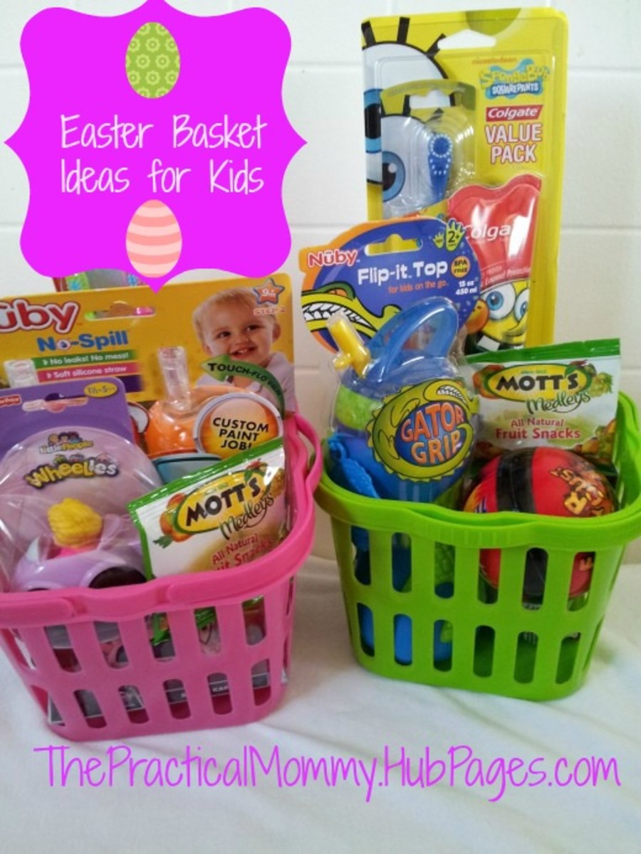 Sugarless and Fun Easter Basket Goodie Ideas for Toddlers and Babies