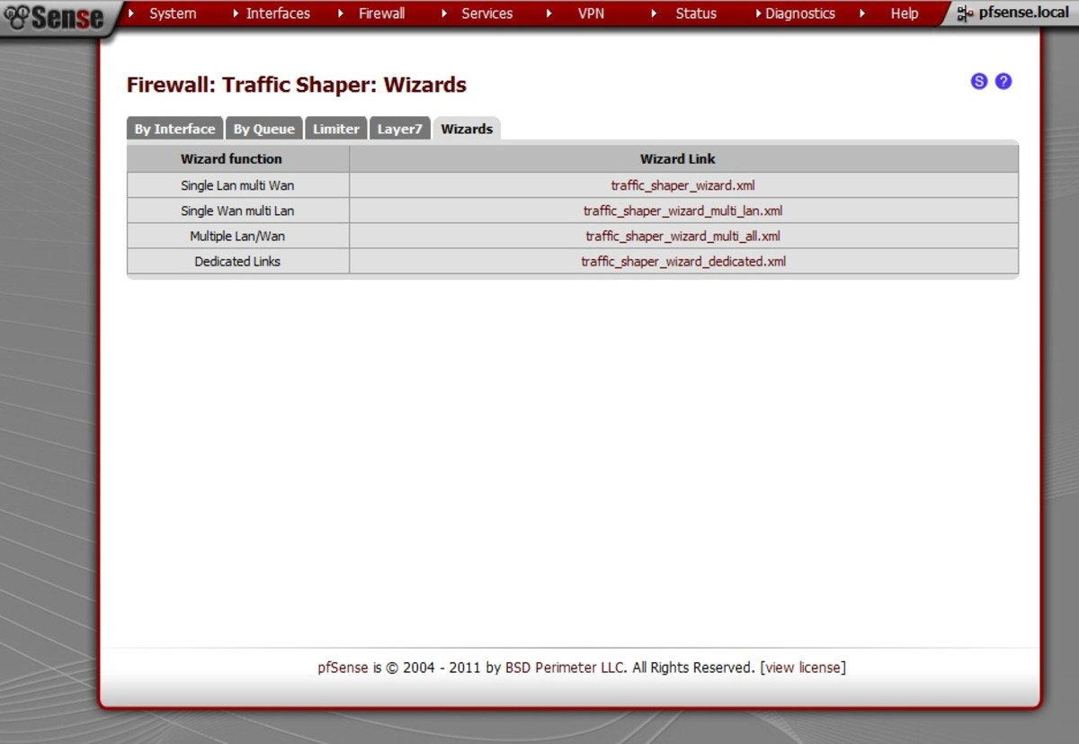 Traffic Shaper Wizard