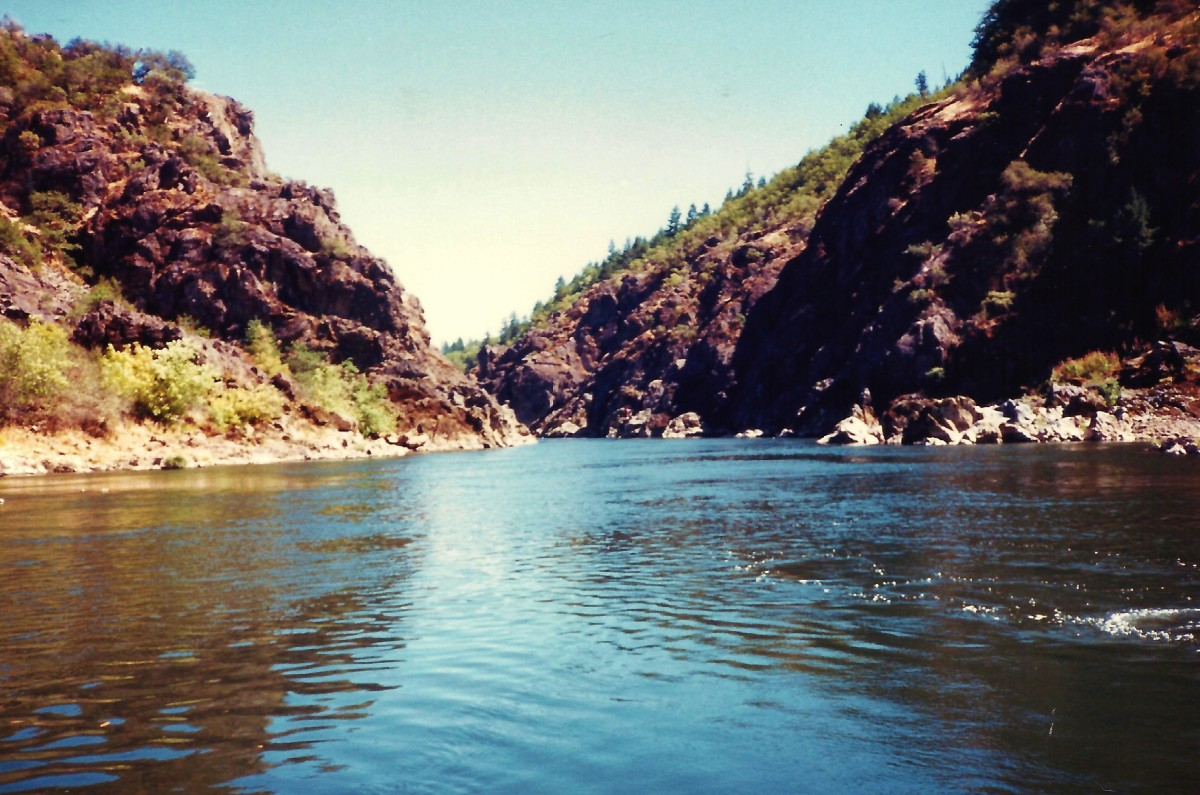 Rogue River photo taken on our jet boat ride.