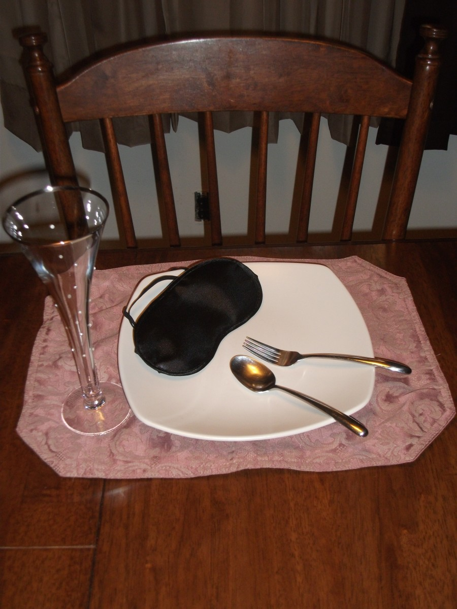 All you need to create a blind dinner is a blindfold and food.
