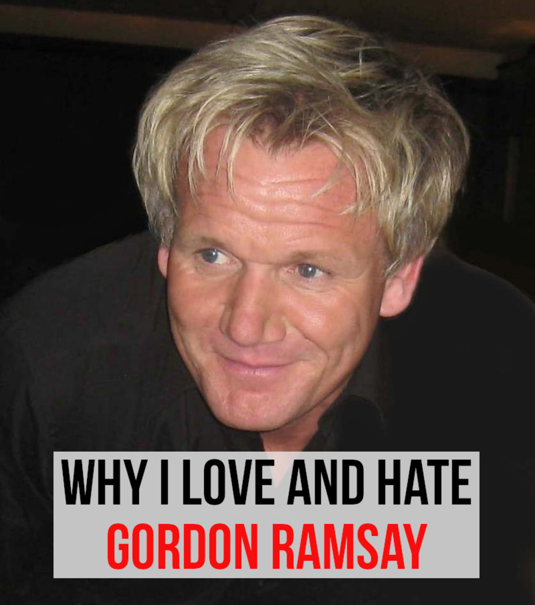 There are many reasons to love and hate the celebrity chef, Gordon Ramsay - I list the main ones.