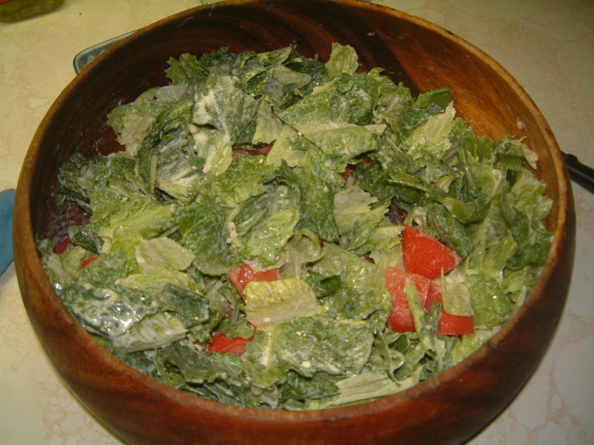 In this Caesar Salad I have added chopped tomatoes.