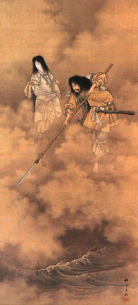 Izanami and Izunagi by Kobayashi Eitaku 1885