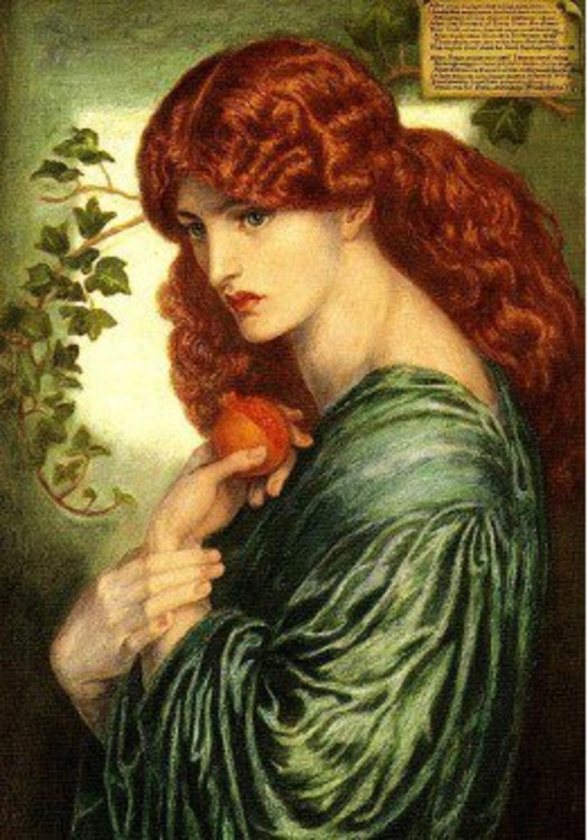 Prosperia (1870) Dante Gabriel Rossetti (1828-1882) PD-art-100