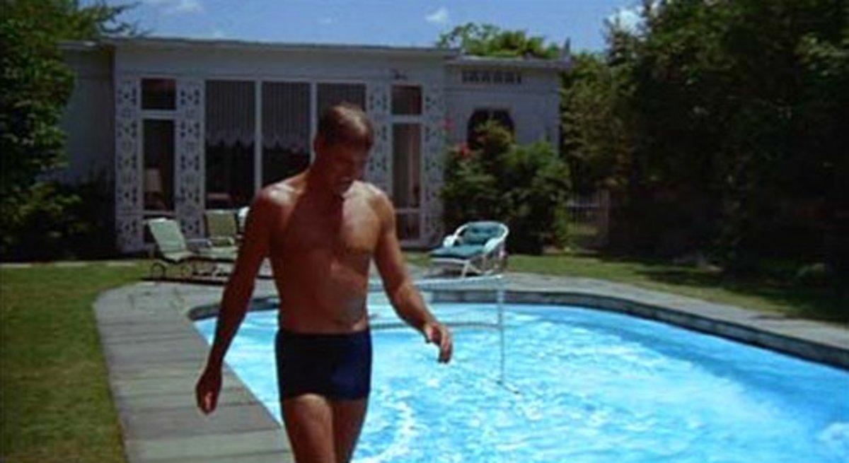 """Burt Lancaster in """"The Swimmer"""""""