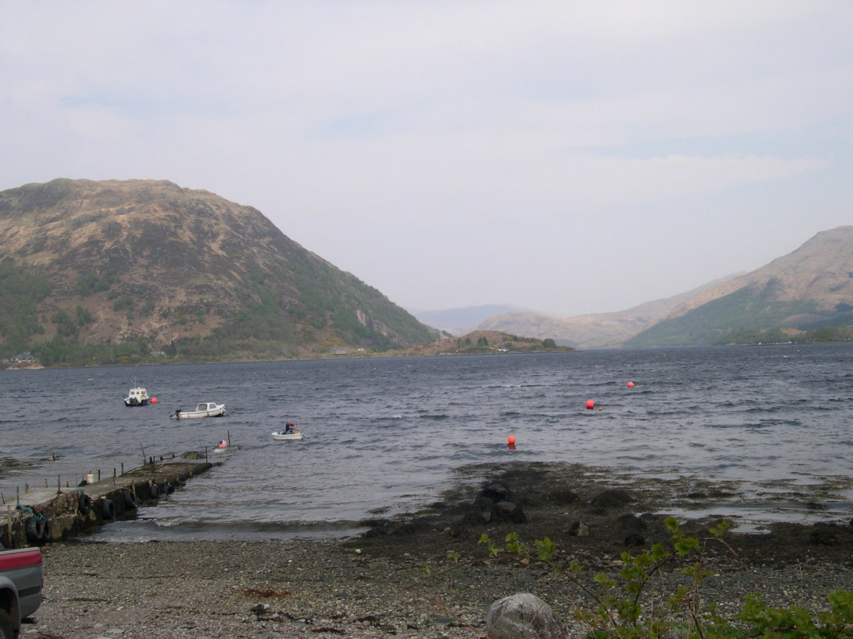 Sea Fishing Loch Etive From Taynuilt, Argyll, Scotland