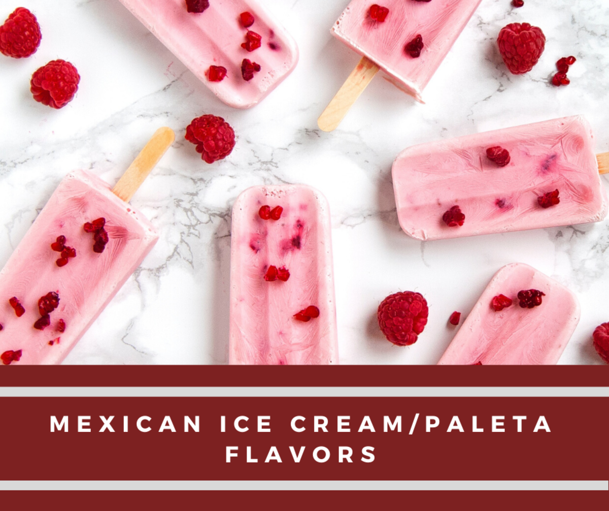 Mexican Ice Cream/Paleta Flavors and Explanations in English