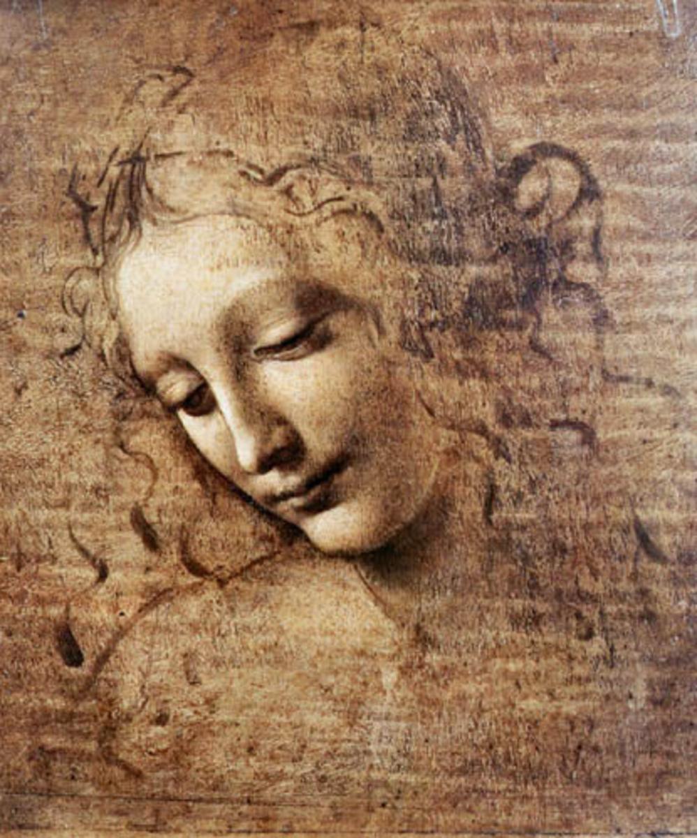 "La Scapigliata, meaning ""disheveled"""