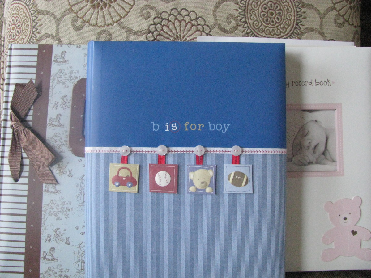Baby books to record special moments in growth and life