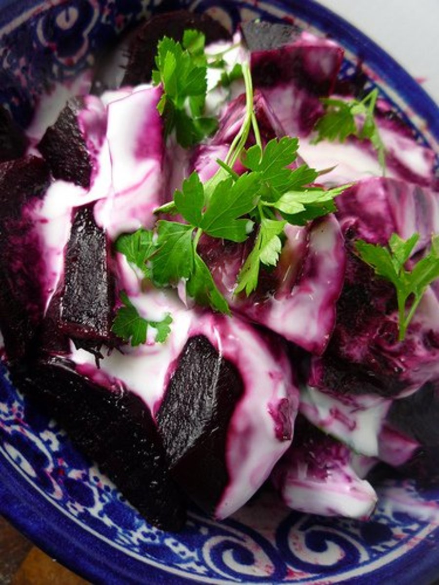 Beet Root with Yogurt, by Girl Interrupted Eating. Use plain yogurt for breakfast, salads, smoothies, desserts and as a sour cream substitute.