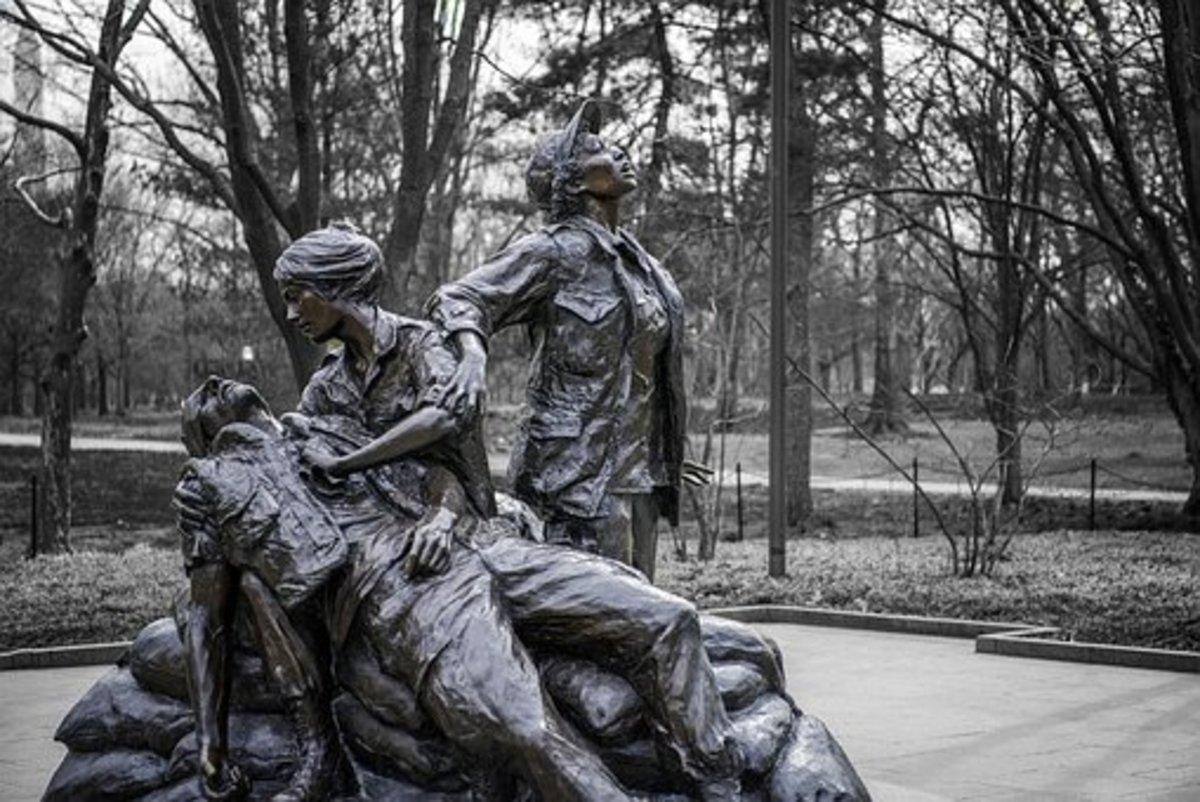The Vietnam Women's Memorial in Washington D.C.