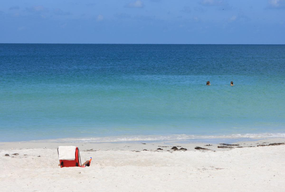 The lovely waters of the Gulf of Mexico as seen from Lido Beach.