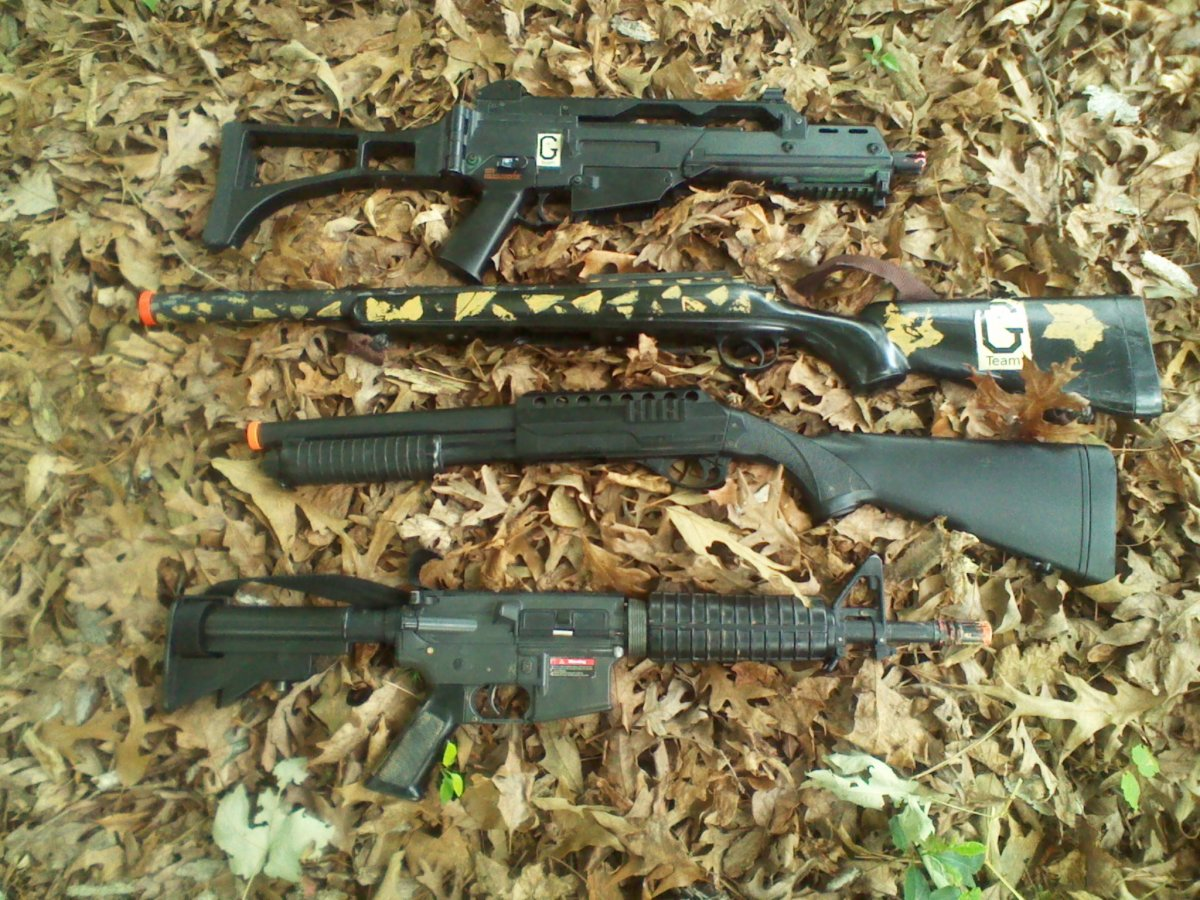 G36C AEG, Sniper Rifle, Shotgun, M4 Commando AEG