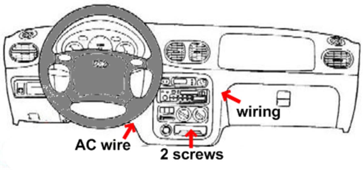 Hyundai Accent Radio Removal  94  95  96  97  98  99