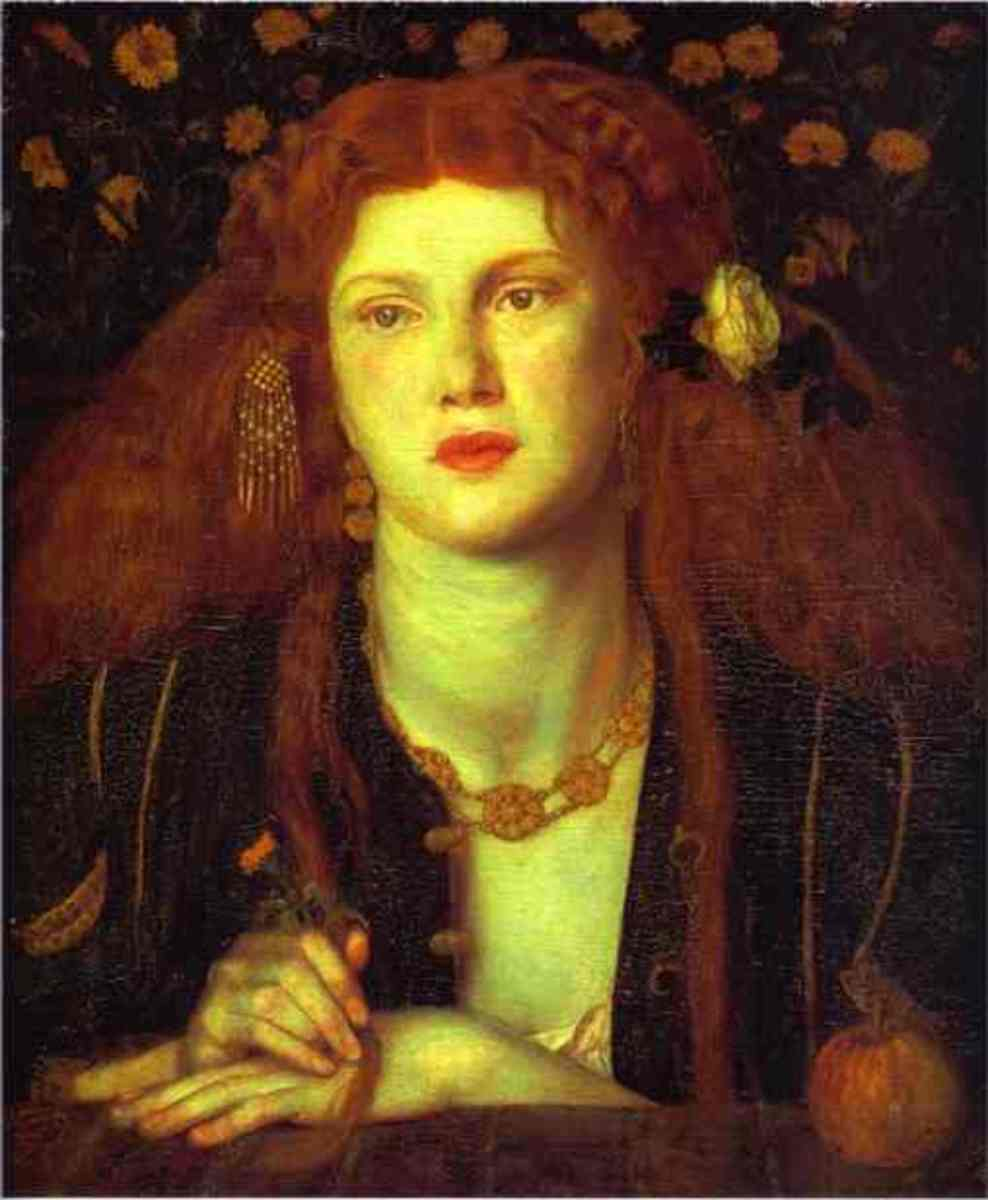 """Bocca Baciata"" by Dante Gabriel Rossetti—1859. A perfect example of a bohemian-styled woman."