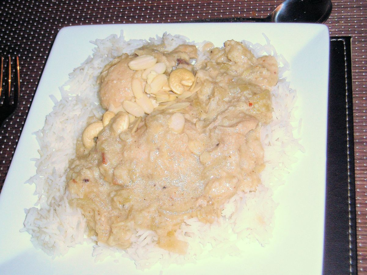 Recipe for White Chicken Korma Curry