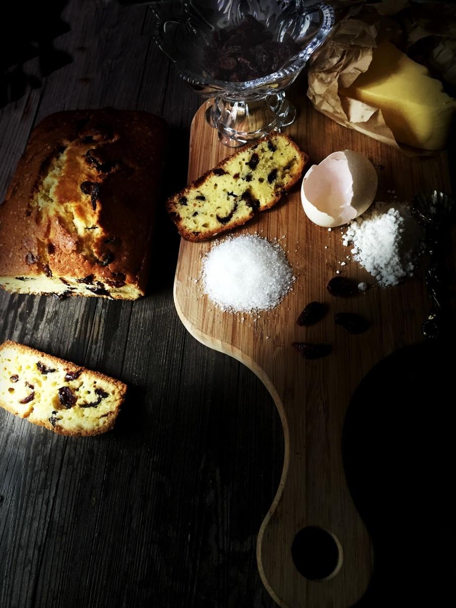 Butter + sugar + flour + eggs + love = pound cake
