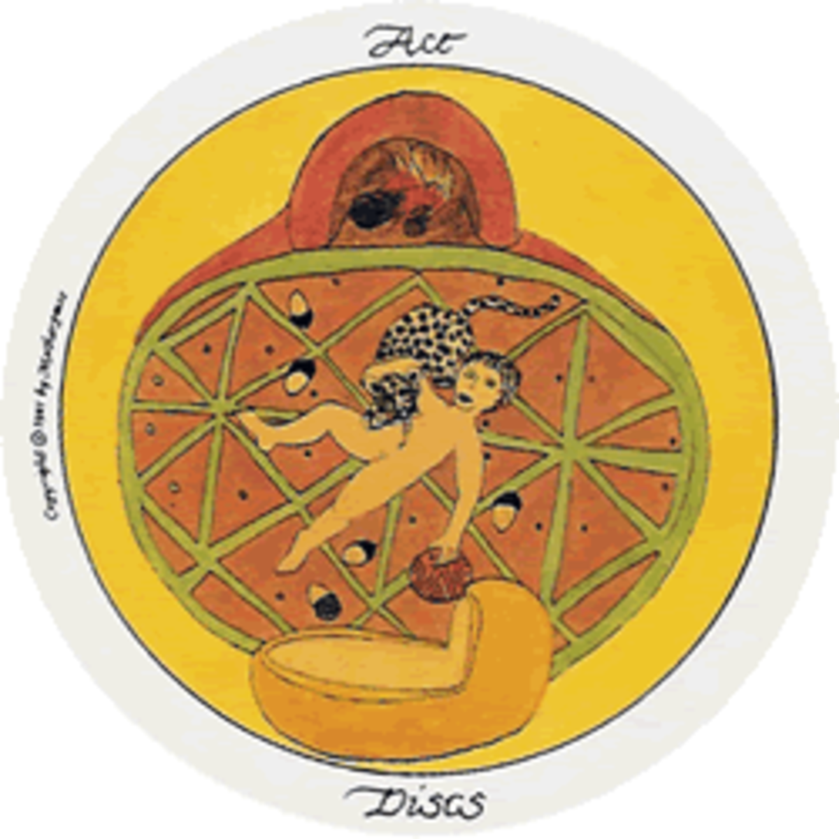Motherpeace Round Tarot Cards: Suit of Discs