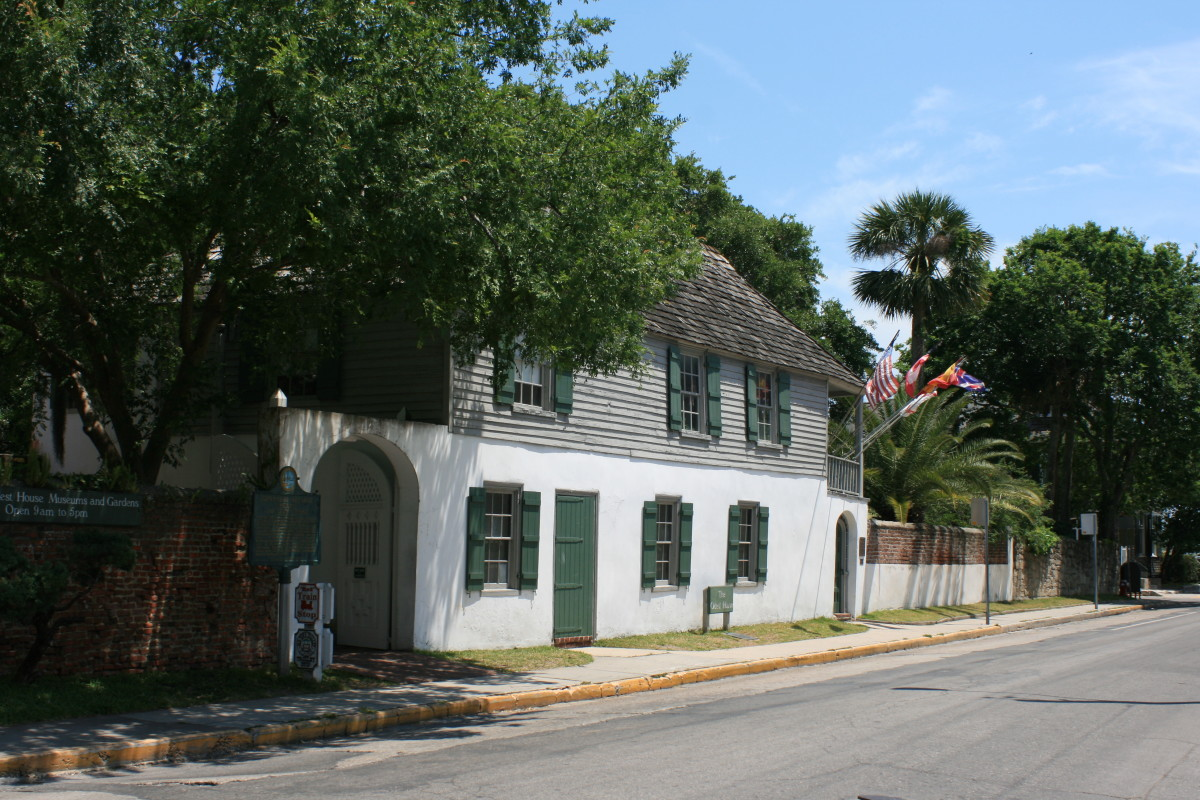 The oldest house in St. Augustine, FL.