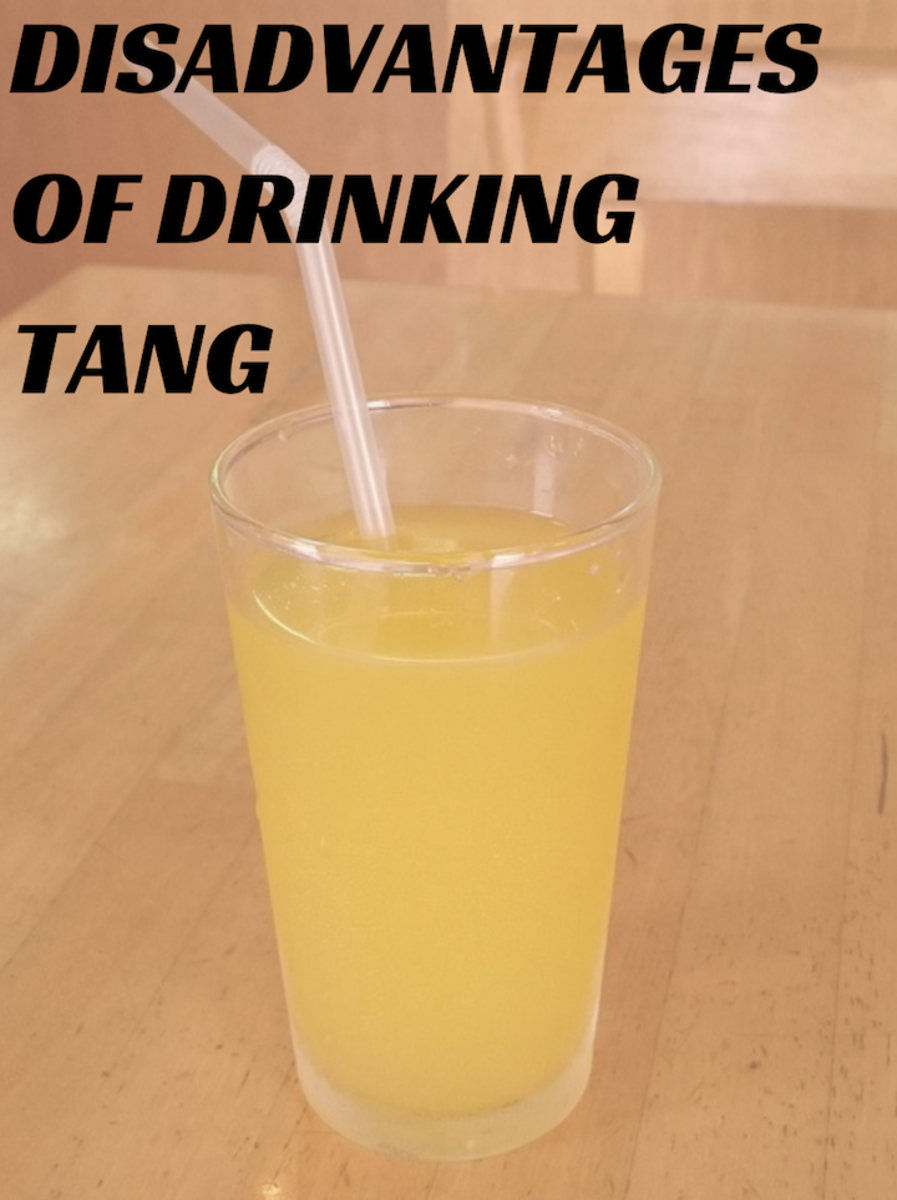 The sugar in Tang is detrimental to your health.