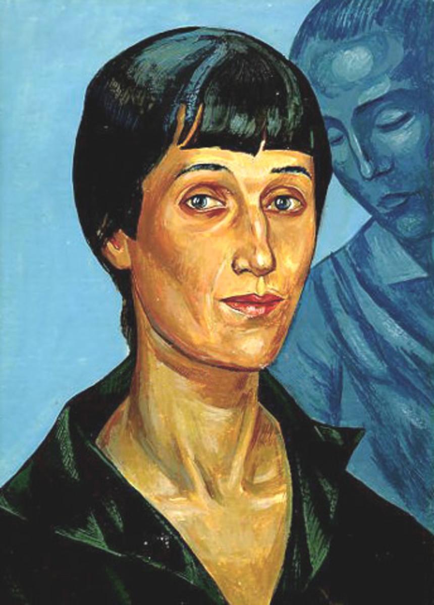 Portrait of Anna Akhmatova by Kuzma Petrov-Vodkin