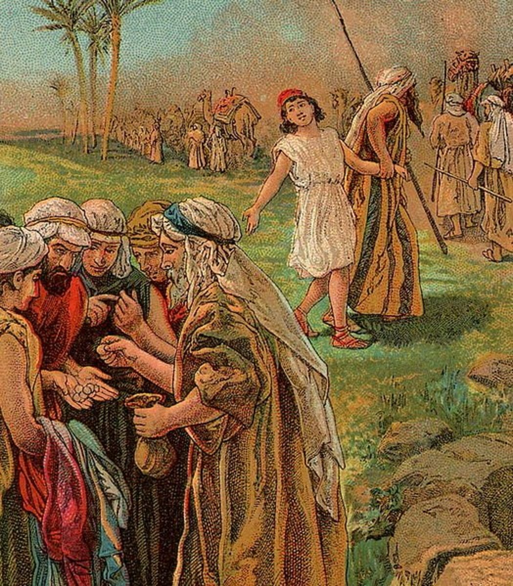 In the story of Joseph in the Bible, he is sold into slavery by his jealous brothers.