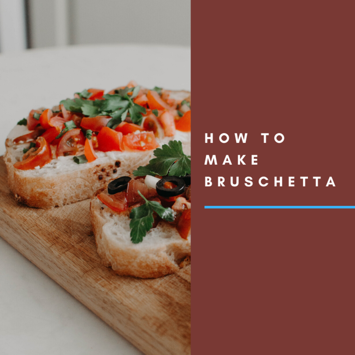 Bruschetta is a delicious appetizer that's great for many meals.