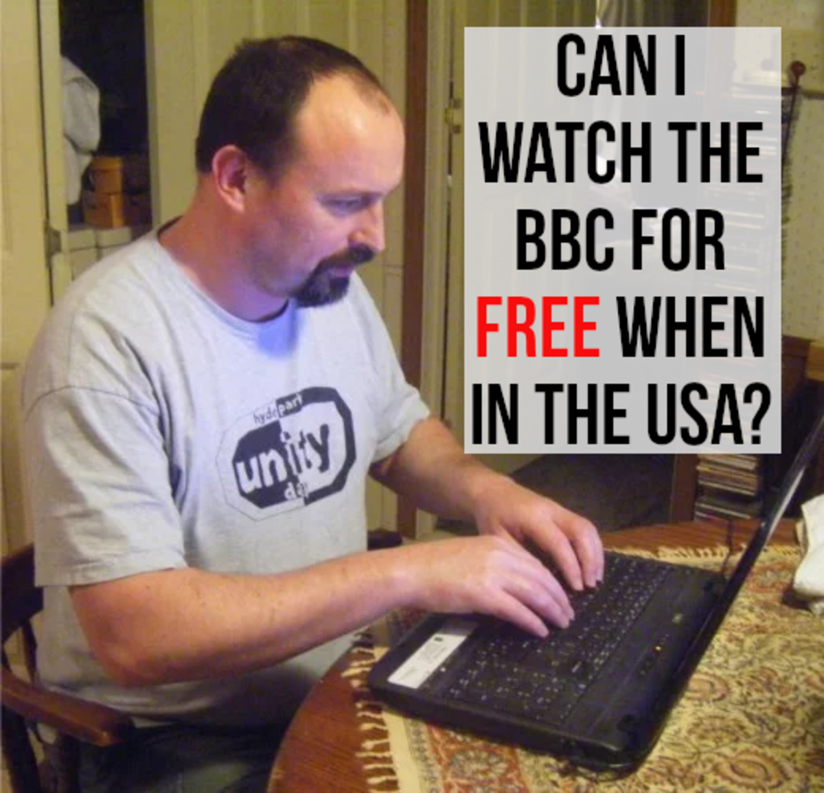 I spend a lot of my time in the USA. I don't watch a lot of British TV, but sometimes it's nice to watch big occasions, television shows, or sporting events broadcast by the BBC.