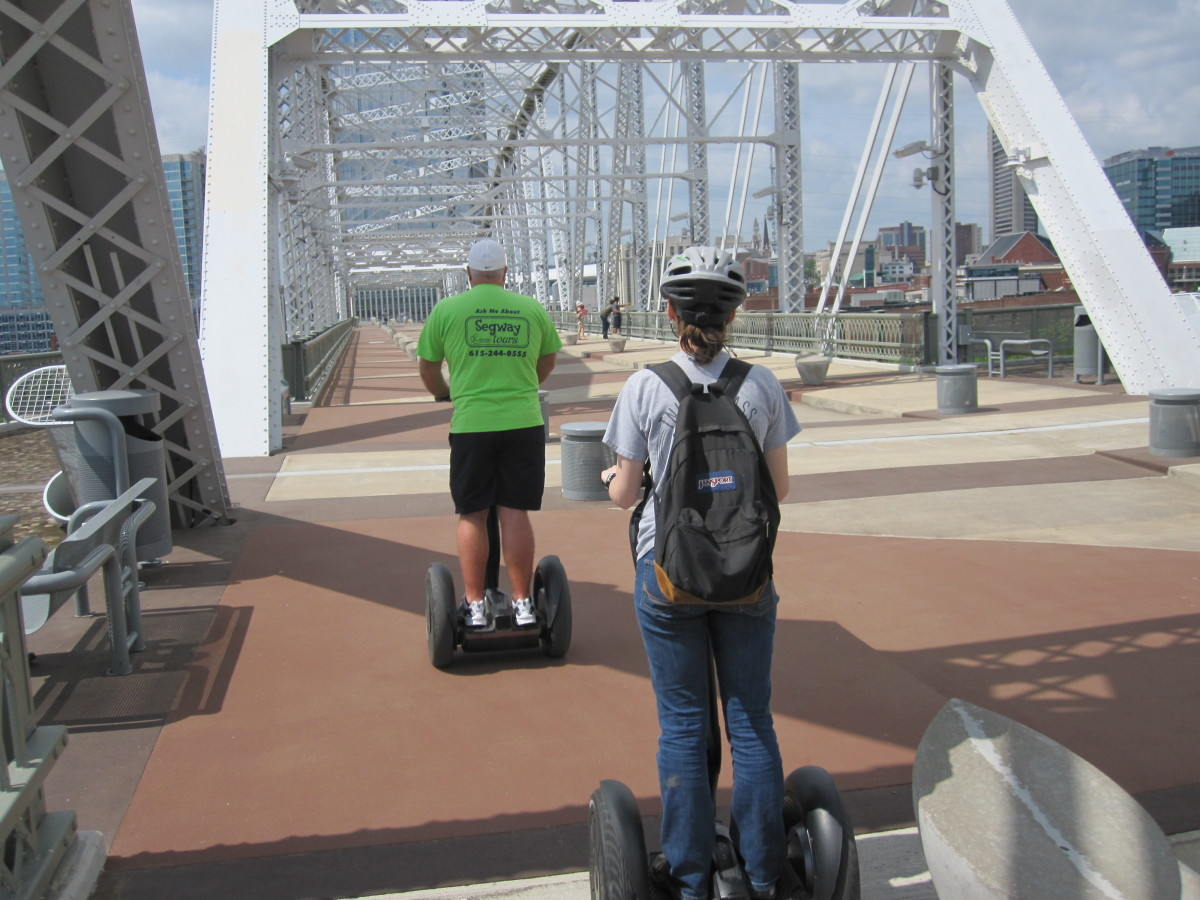 JanSport goes on a Segway tour of Nashville.