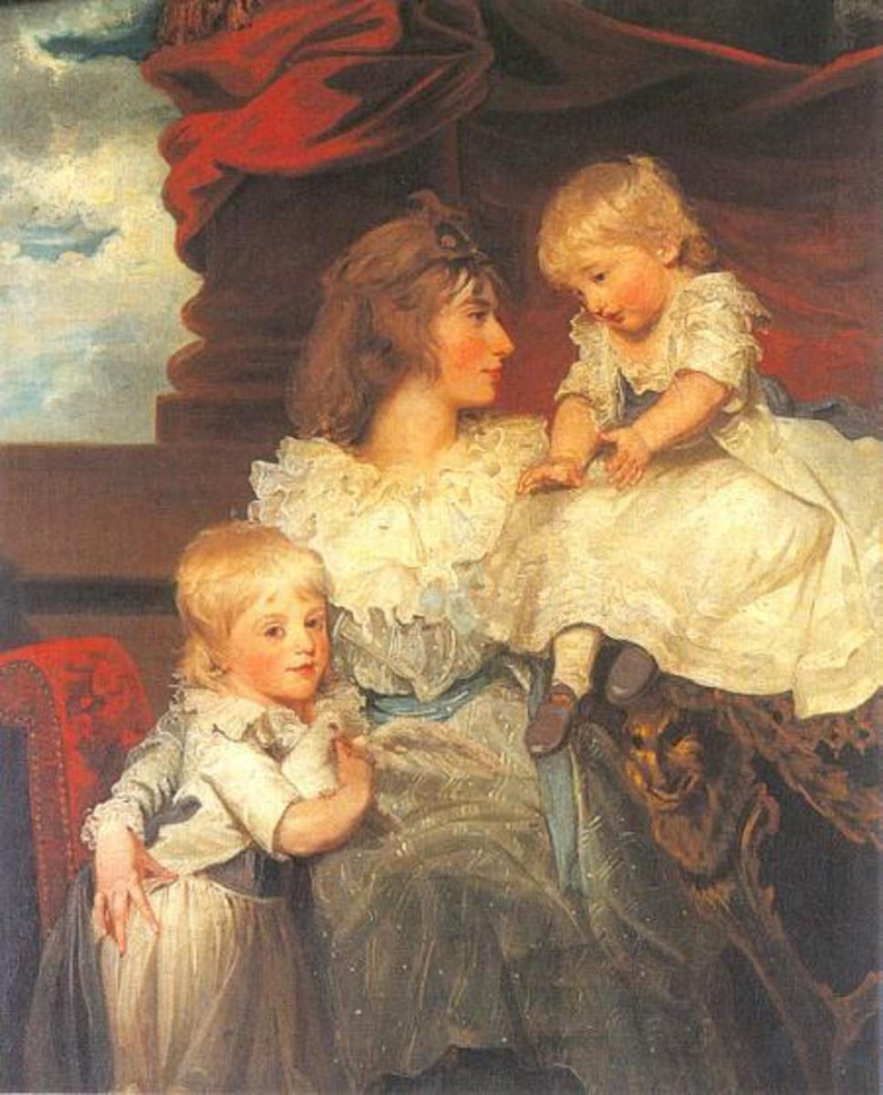 Harriet, Viscountess Duncannon and her Two Sons, Frederick and John.