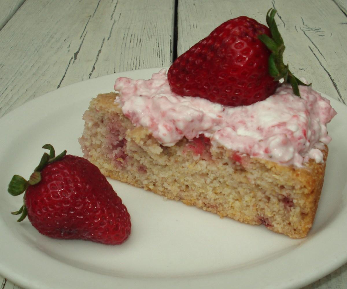 Native-American-Style Strawberry Cake