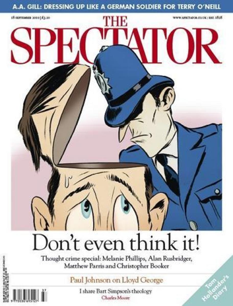 The Spectator Magazine 18 September 2010 Front Cover. The Original magazine (and what I talk about in this hub) was first published in 1711.