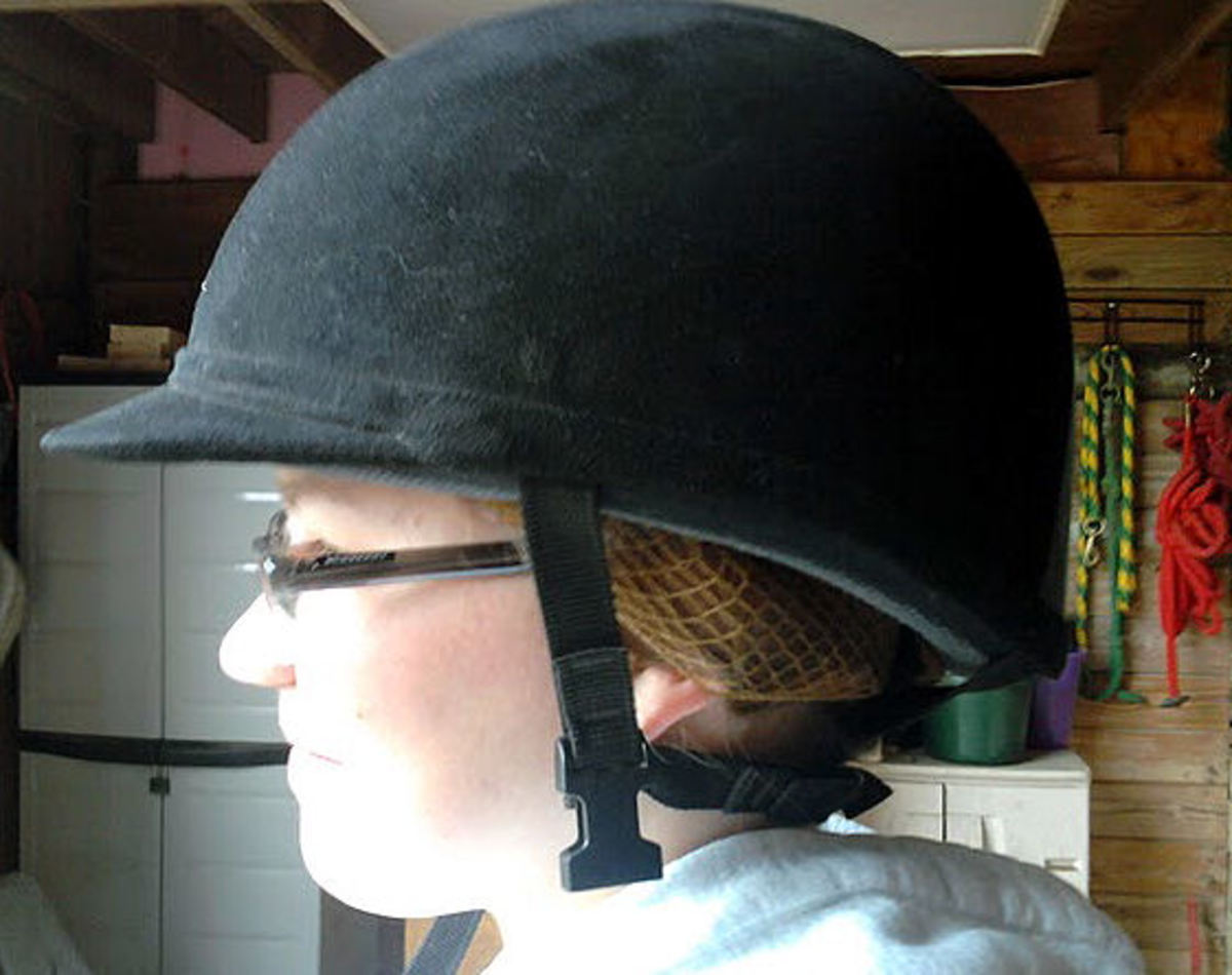 How to Put Your Hair Up in Your Riding Helmet in Less than 1 Minute