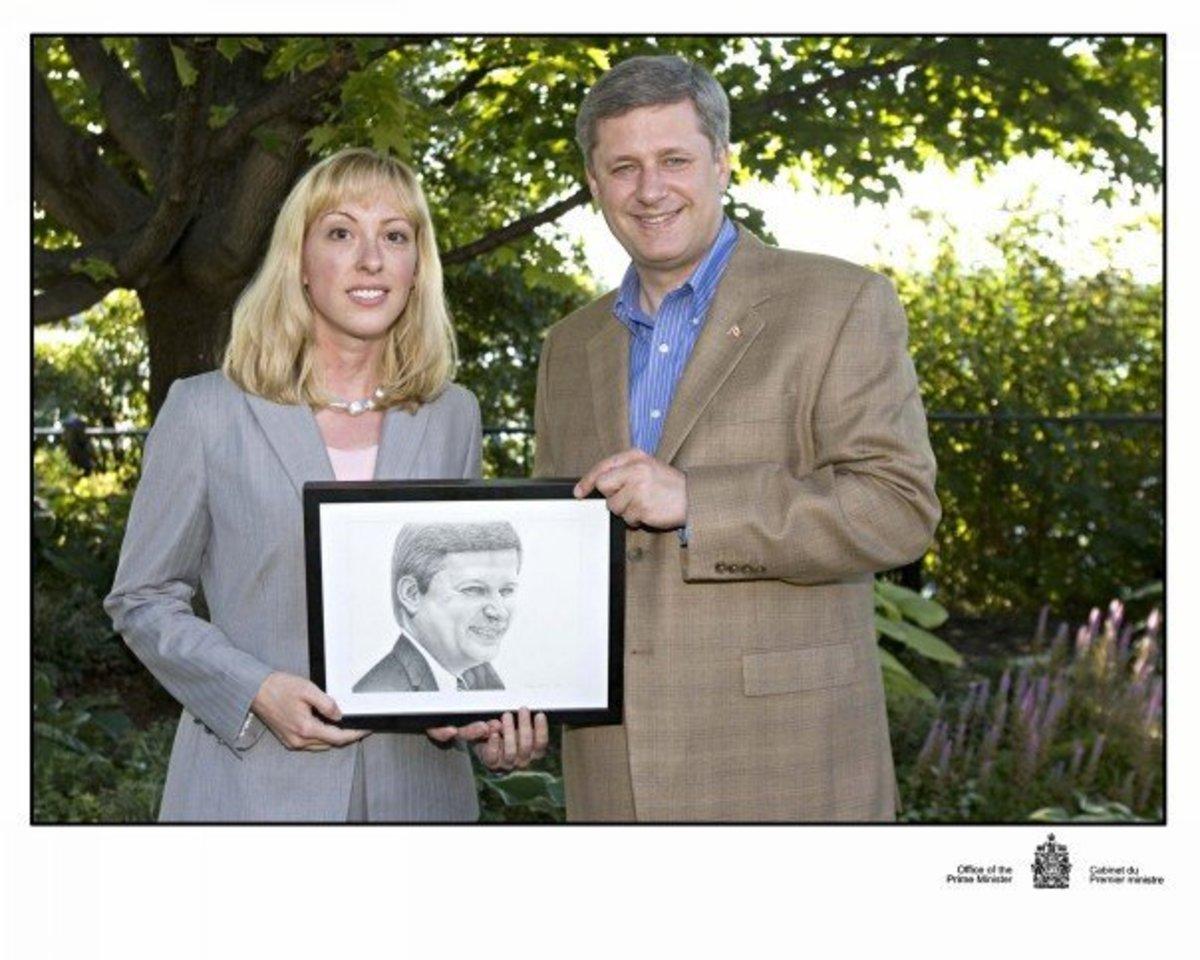 Me and Prime Minister Stephen Harper