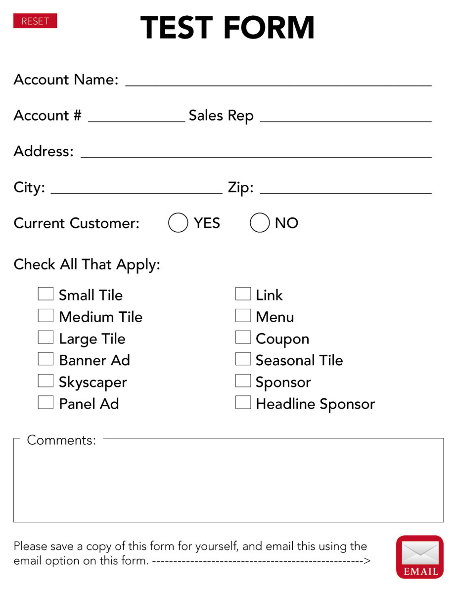 Test PDF interactive form