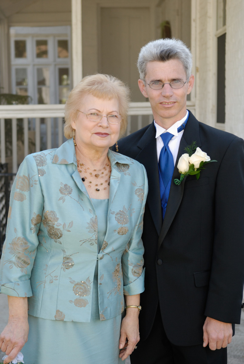 My husband and his mom on our wedding day - October 13, 2007.