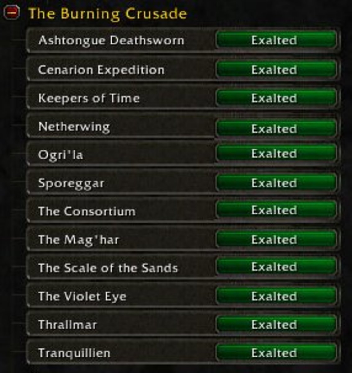 The Burning Crusade Factions at Exalted