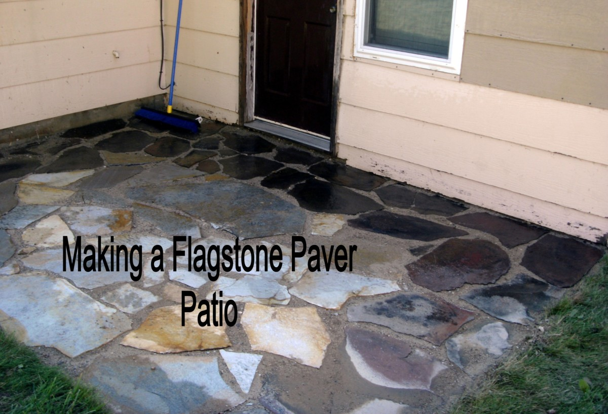 How to Install or Lay Flagstone Pavers When Building a Flagstone Patio